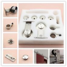 Sistema de rodillo corredizo del hardware de la partición de la puerta del granero del acero inoxidable de la calidad fijado para el mercado australiano