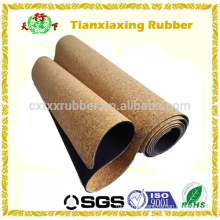 Eco Friendly Cork Natural Rubber Gym Exercising Yoga Mat