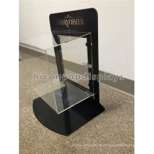 Acryl Schmuck Display-Sets Schwarz Metall Rahmen Lockable Portable Counter Top Schmuck Showcase