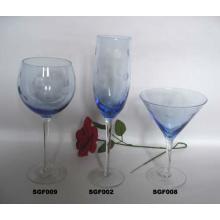 Flûtes à champagne en verre sans plomb faites à la main