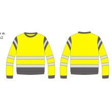High Visibility Reflective Crew Neck biocolor Sweatshirt