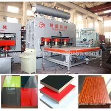 Prensagem de melamina de ciclo curto / 3200T-6X12 'laminação de melamina de ciclo curto prensa quente