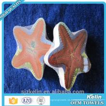Fertigen Sie magische dekorative Handtücher der runden Form besonders an