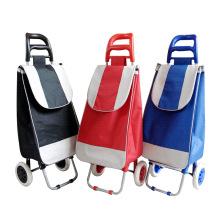Carrito de supermercado con carrito y equipaje