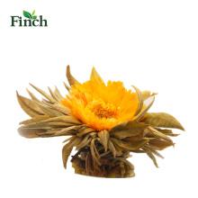 Boule de thé floraison Finch Hot Sale avec fleur de calendula dans un emballage cadeau