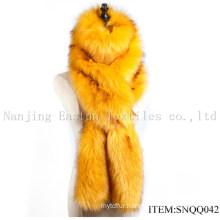 Faux Raccoon and Fox Fur Scarf Snqq042