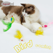 Plush Pet Toys Cat Of Catnip Toys Bird Feather Pet Kitten 3 Colors Mix For Pet Supplies Cats