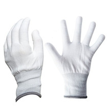Gant anti-statique de polyester de gants de paume de point de PVC