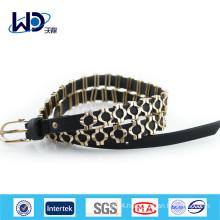 Free Sample Single Pin Buckles Ladies PU Metal Belt