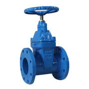 Non rising stem resilient seated gate valve