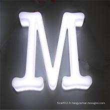 Lettres acryliques pleines de canal de LED