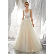 Ein Großhandel spezielle Büste jüngeren Design Illusion Spitze appliziert offenen Kleid Kleid Kleid KB6564