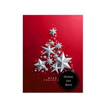 Arbre de Noël rouge Flocons de neige Noël Merci Carte de voeux Merci Carte gros