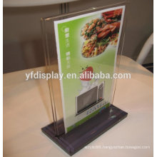clear acrylic restaurant menu holder stand