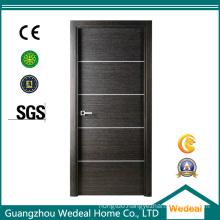 Modern Solid Wood Veneer Interior Flush Door