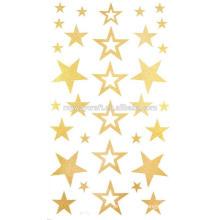 Novos adesivos dourados de tatuagem dourados com ótimo preço