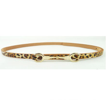 Fashion Woman waist imitation leopard skin PU thin belt