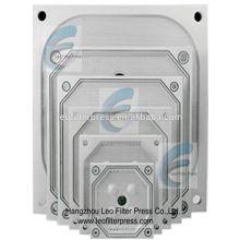 Plaques filtrantes de presse de filtre de Leo, plaque filtrante enfoncée de chambre pour l'opération de presse de filtre de chambre
