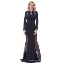 Kate Kasin Sexy Womens Long Sleeve See-obwohl Polka Dots Schlüsselloch Schwarz Lange Abend Prom Party Kleid KK000208-1