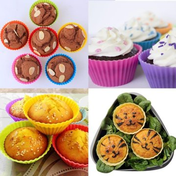 Muffin Silicone de qualité alimentaire 12pack