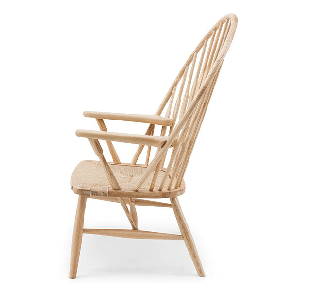 Solid wood peacock chair
