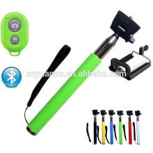 Selfie палка с кнопкой затвора bluetooth, кабель принять полюс selfie stick