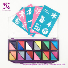 Label private face painting kit dengan stensil glitter