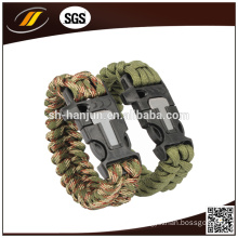 Paracord Rope Outdoor Survival Bracelet for Camping (HJ-7012)