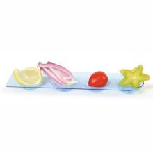 Bandeja de plástico redonda para dispensador desechable 4 compartimientos