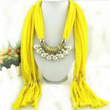 Borlas elegantes del encanto de las mujeres de la manera Rhinestone adornado al por mayor bufanda del collar del colgante