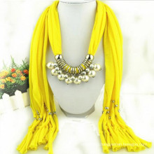 Fashion Women's Elegant Charm Tassels Rhinestone Decorated Jewelry wholesale pendant necklace scarf