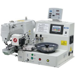 Automatyczna maszyna do szycia podające przycisk