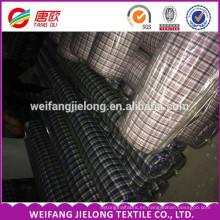 Hilado de alta calidad teñido 100 algodón popelina tela de la camisa de los hombres 100% Hilado de algodón teñido a cuadros tela textil para la camisa de los hombres