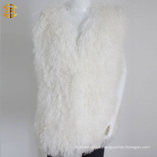 New Winter Fashion Wholesale Women White Fur Vest