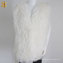 New Winter Fashion Wholesale Mulheres White Fur Vest
