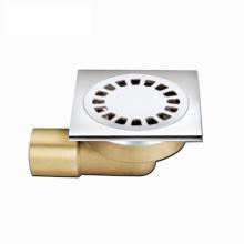 Décharge de déchets de plancher de salle de bain en laiton avec une qualité supérieure de 100 * 100 mm