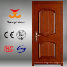 Paint Grade Armored Steel Wood Entrance Security Wood Door