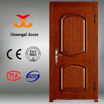 Paint Grade Armored Steel Wood Entrance Security Wood Door