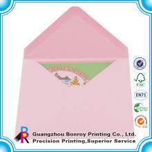 Sobre de mini tarjetas de regalo al por mayor personalizado para tarjetas de regalo