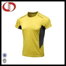 Vier Farben-Polyester-Männer laufende und Sport-T-Shirts