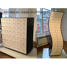 Rotatable Creative Wooden Furniture/ Practical Wooden Display with Caster