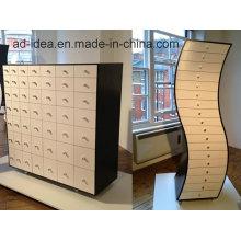 Вращающийся творческий деревянная мебель/ практичный деревянный дисплей с Рицинусом