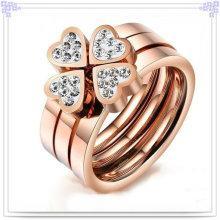 Anillo de dedo de los accesorios de moda de la joyería del acero inoxidable (SR283)