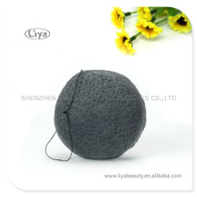 100% Natural Konjac bath Sponge Facial Cleaning sponge black