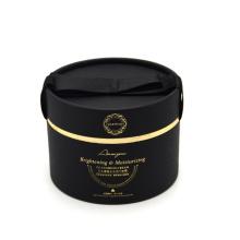 Luxury Matt Gold Foil Logo Round Paper Box