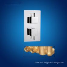 Válvula de ducha y doble asas mezclador de ducha termostática y mezclador de ducha