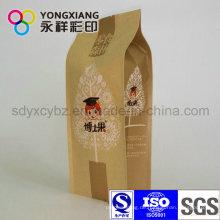 Kundenspezifische Kraftpapier Seitliche Zwickel Verpackung Tasche