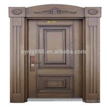 a porta principal indiana projeta a porta de aço com fechamento da impressão digital