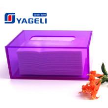 Cuadrado de color personalizado acrílico Lucite Tissue Box