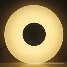 luzes de teto led branco quente com alto-falante bluetooth